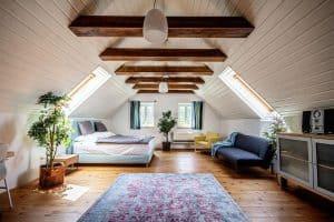 Ferienhaus Landhaus Pössnitz Schlafzimmer